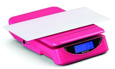 Brecknell  PS25 Electronic Portable Postal Parcel Scale 25 lb x 0.2 oz, Pink
