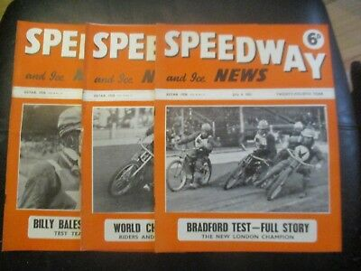 1951 Collection (8) Of 3  Of The  Speedway And Ice News  Magazine