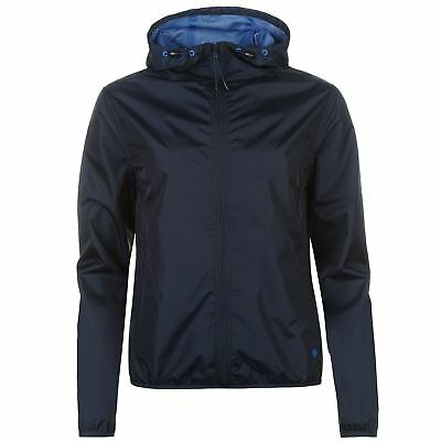 Womens SoulCal Packable Rain Jacket Water Resistant New