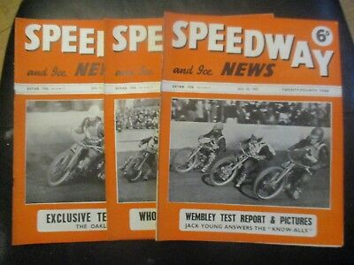 1951 Collection (9) Of 3  Of The  Speedway And Ice News  Magazine