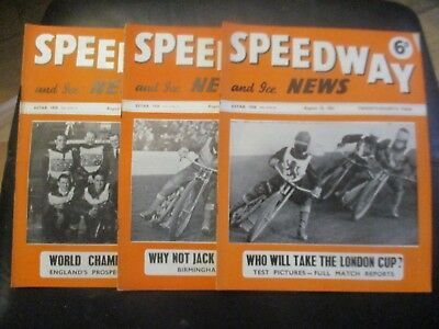 1951 Collection (10) Of 3  Of The  Speedway And Ice News  Magazine