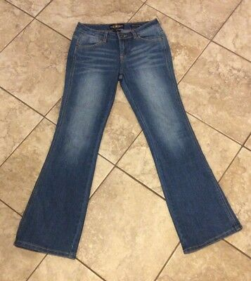 New Girl Size 14 Lucky Brand Charlotte Mini Flare Jeans Stretch Blue So Cute!