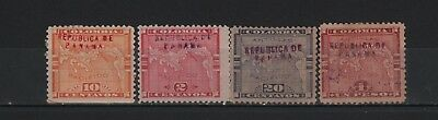 Panama 1903 Map Lot X 4 Overprinted In Rose & Blue Black  Sc#54-59 62 64