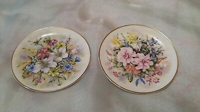 Vintage collectible English bone china, Flowers of the Season, Winter and Spring