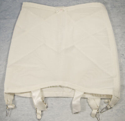 "1950s Vtg Open Bottom Crotch Girdle w/ 6 Garters Corset Pre-owned 13"" Long"