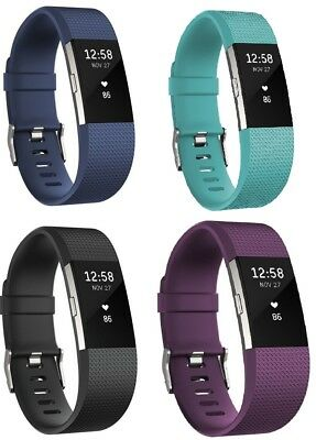 FITBIT Charge 2 Fitness and Heart Rate Tracker and Bluetooth Black Blue Purple