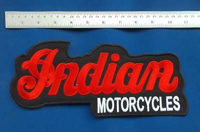 "Large 11"" Indian Motorcycle Motorcycles Vest Jacket Shirt Biker Patch"