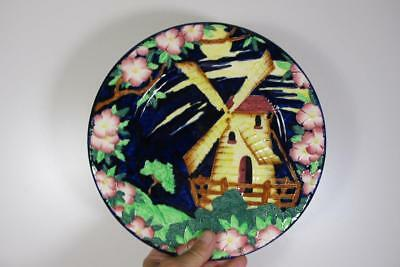 "Antique Vintage Maling England Windmill Charger Plate 11"" Inches"