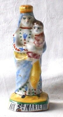 Late C19Th Malicorne French Faience Figure Of St. Marie
