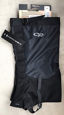 NWT Outdoor Research Women's Verglas Gaiters L Large Black NEW From OR