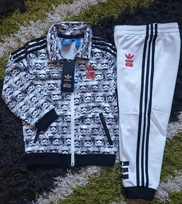Adidas STAR WARS Villian 2 Firebird Baby Boys Girls Infants Kids Tracksuit Set