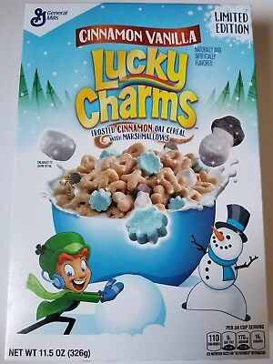 New General Mills Cinnamon Vanilla Lucky Charms Cereal Free Worldwide Shipping