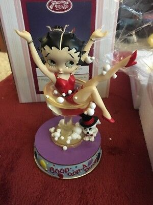 Betty Boop In A Champagne Glass The San Francisco Music Box Company