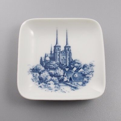 "Royal Copenhagen Small 3"" Pin Dish Roskilde Cathedral Denmark Blue White"