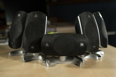 Set of 5 Logitech Computer Speakers, 180W, RCA Plug - 5.1 Satellite Replacement