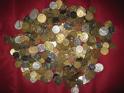 Nice Mix Over 5 Pounds Assorted Tokens FREE SHIPPING Lot 1B56