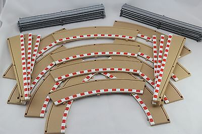 Scalextric Accessories - Borders And Barriers - 3 Corner Bundle - C8228 & C8233