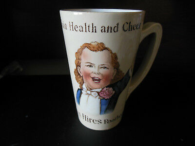 Antique Mettlach beaker stein Drink Hires Rootbeer Join Health and Cheer - mint!