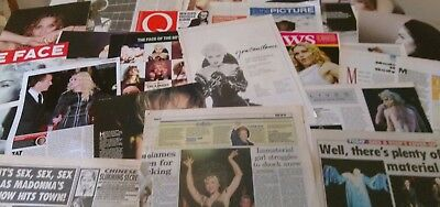MADONNA - Collection of Articles/Clippings/Ads/Pics  1980's - 2000's - VGC - (1)