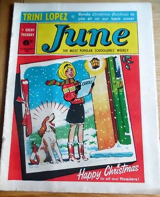 Christmas Issue of June Comic 21st. December 1963-Near Mint