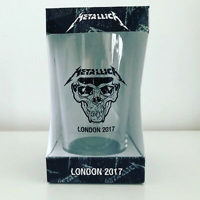 Metallica Worldwired Tour POP UP STORE LONDON exclusive Pint glass,O2,no Print
