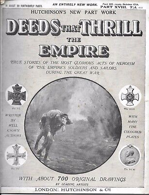 'Deeds That Thrill the Empire' Part XVIII - Great War Partwork c.1917