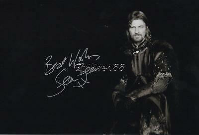 "Sean Bean ""Game of Thrones"" Genuine Autographed 12x8inch photograph"