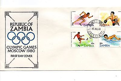 Zambia - 1980 Moscow Olympic Games FDC