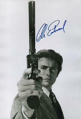 Clint Eastwood Genuine Autographed 12x8inch photograph