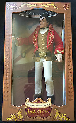 New Boxed Disney Gaston Limited Edition Doll With Certificate Of Authenticity