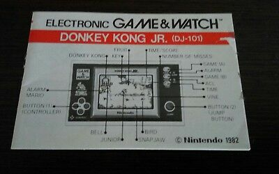 Instrucciones Game Watch Donkey Kong Jr (New Wide)