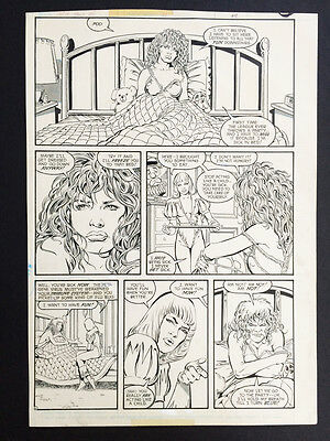 Kevin Maguire Orig. Page Art Justice League Int. #24 Feb. 1989  w/Fire & Ice