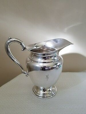 Large Frank Whiting Sterling Silver Water Pitcher Mono 'W'