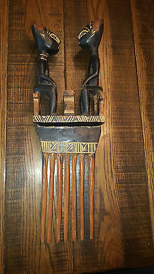 African art - statue wall piece Marriage comb