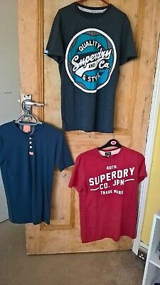 **mens Superdry Bundle X3 T-Shirts *size Small*