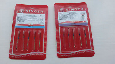 Singer Sewing Machine Needles Domestic - Standard 90/14 ,  100/16