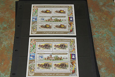 Lesotho 1984 Ausipex Minature Sheets Set Of 5   Fine M/n/h Cond