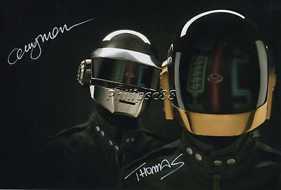 Daft Punk Genuine Autographed 12x8inch photograph