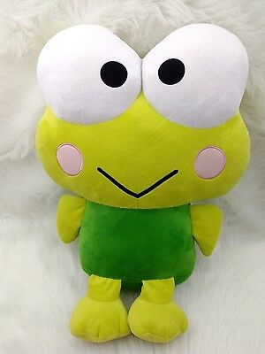"Hello Kitty Sanrio Kerokero Keroppi Frog Plush Doll Toy Fiesta Company 20"" C"