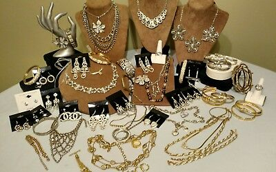 Over 40 pc quality (diamond look) SPARKLE jewelry lot