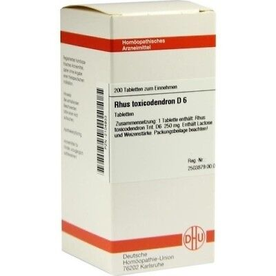 RHUS TOXICODENDRON D 6 Tabletten 200 St DHU-ARZNEIMITTEL GMBH & CO. KG