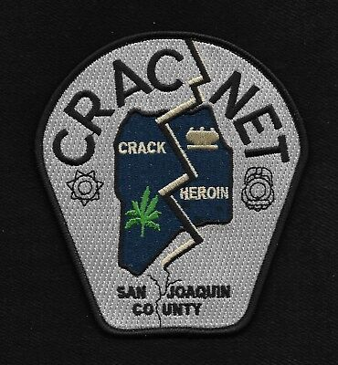 San Joaquin County, Ca - Cracnet Swat Dea Police Patch