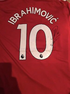 Zlatan Ibrahimovic Hand Signed Manchester United Shirt PROOF Man Utd Authentic