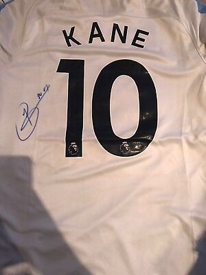 Harry Kane Hand Signed Tottenham Hotspur's Shirt PROOF Authentic COA ENGLAND
