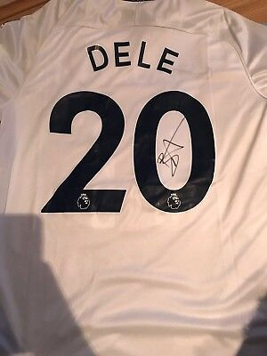 Dele Alli Hand Signed Tottenham Hotspur's Shirt PROOF Authentic COA ENGLAND