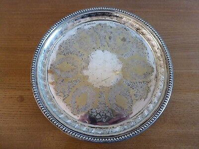 Thomas Prime & Co silver-plated footed tray/platter