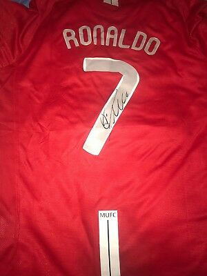 Cristiano Ronaldo Hand Signed Man Utd shirt MOSCOW Champions League 2008 PROOF