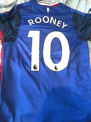 WAYNE ROONEY Hand Signed EVERTON FC Shirt PROOF Authentic COA LFC