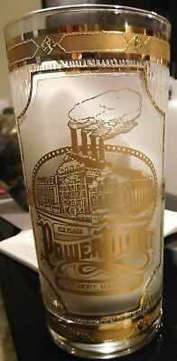 VTG CULVER Gold Glass Six Flags Power Plant Baltimore Maryland