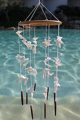 Shell Hanging On Arrarog Ring -Shell Chandeliers - Beach Wedding Decor